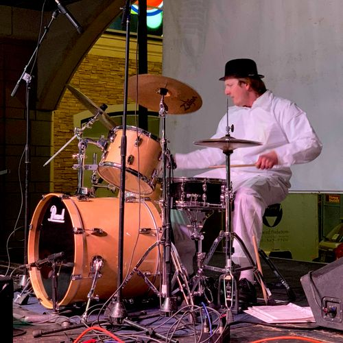 Alex Drumming as a droog. We can't explain why.