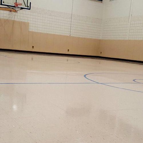 Finished gym floor