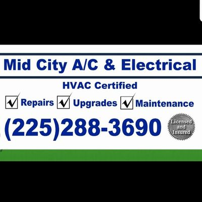 Avatar for Mid City A/C & Electric L.L.C