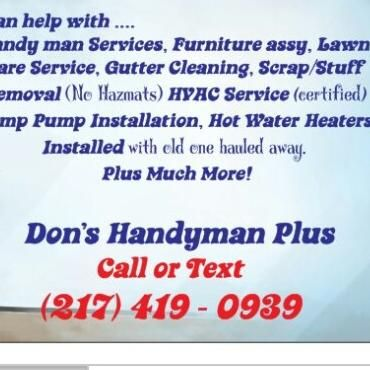 Avatar for Don's Scrapping, Handyman & Lawn Care Fisher, IL Thumbtack