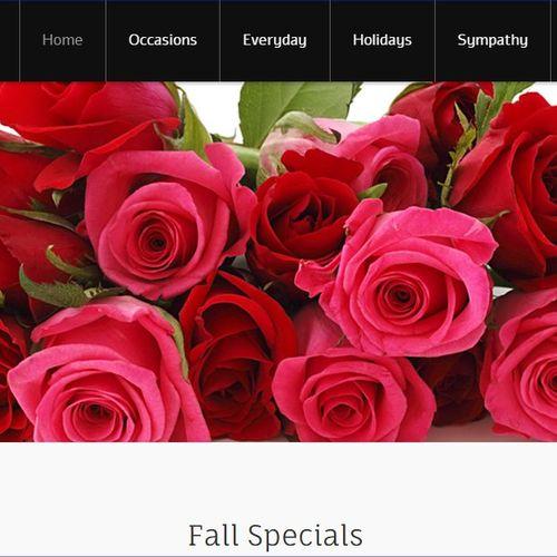 A Flower Basket - florist shop  - e-commerce website