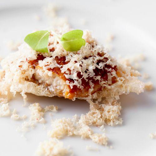 Broiled Unagi with Shrimp Cracker and Foie Gras