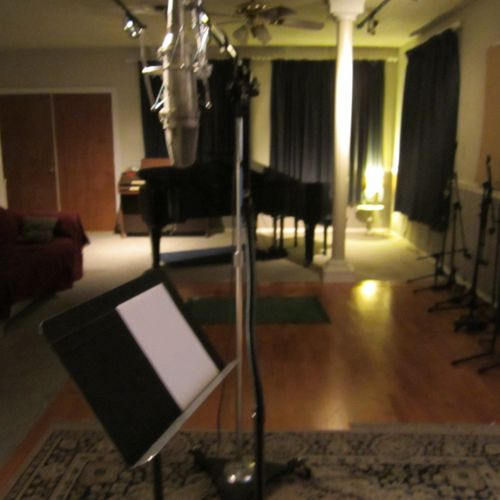 "Neuman U67 microphone in the ""A"" Room Studio"