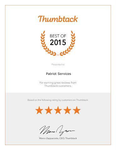 Best of Thumbtack 2015 award
