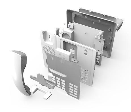 exploded view of 3D CAD model