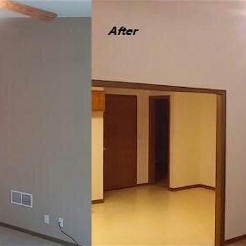 2 bedroom duplex full paint ( Lienen white)