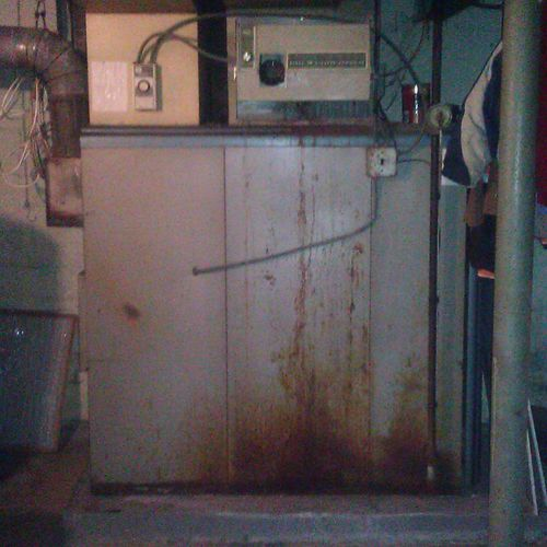 A 60 year old furnace to be replaced