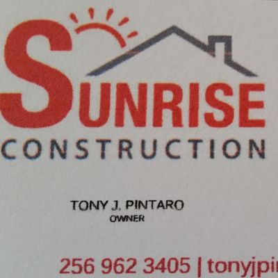 Avatar for Sunrise Construction Cullman, AL Thumbtack