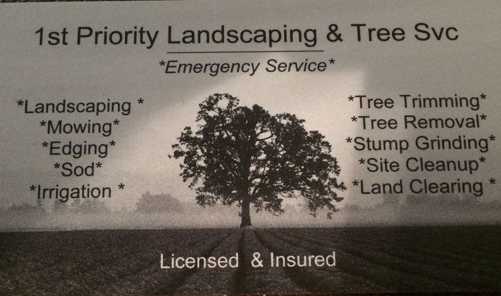 1st Priority Landscape and Tree Service