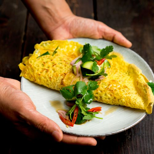 A savory crepe for our brunch menu