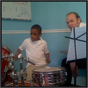 Drum and Percussion instructor, Phil Yochum. One of our most experienced and patient teachers!