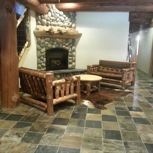 Entry for a 15000 square foot lodge