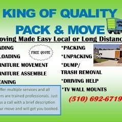 Avatar for King of quality pack and move Oakland, CA Thumbtack