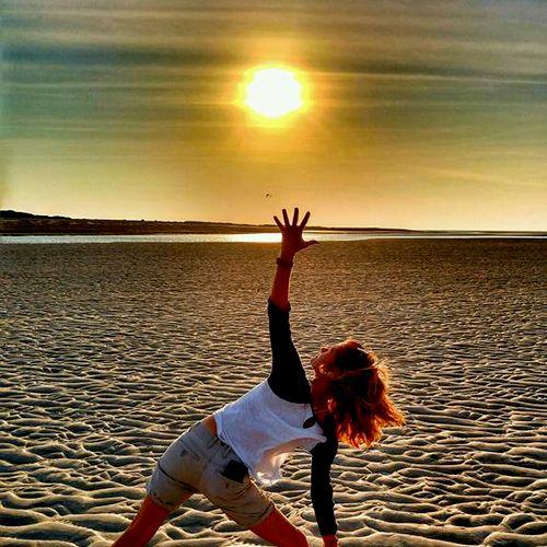 Yoga on the Sandbar