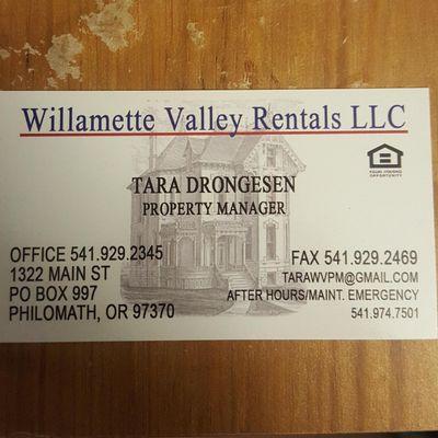 Avatar for Willamette Valley Rentals llc