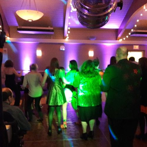 Cupid Shuffle at a wedding for two septuagenarians