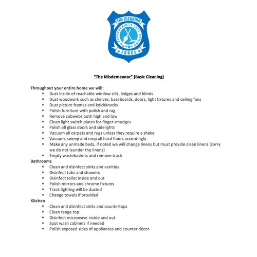 """The """"Misdemeanor"""" Cleaning"""