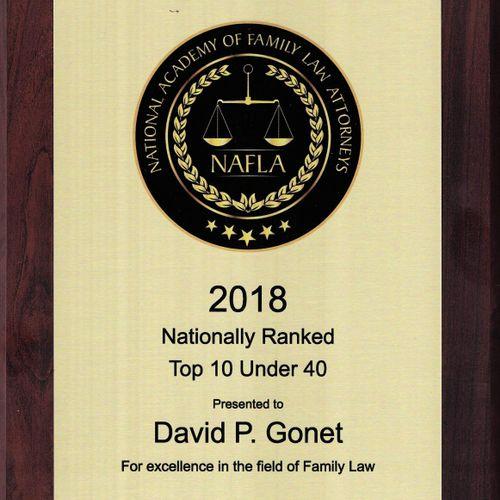David Gonet named Top 10 under  40