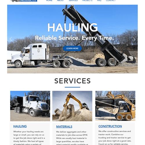 Website design for J Munoz Trucking