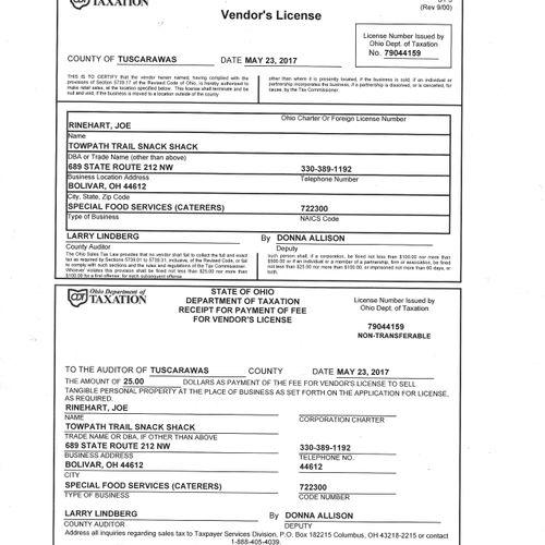 Vendor License