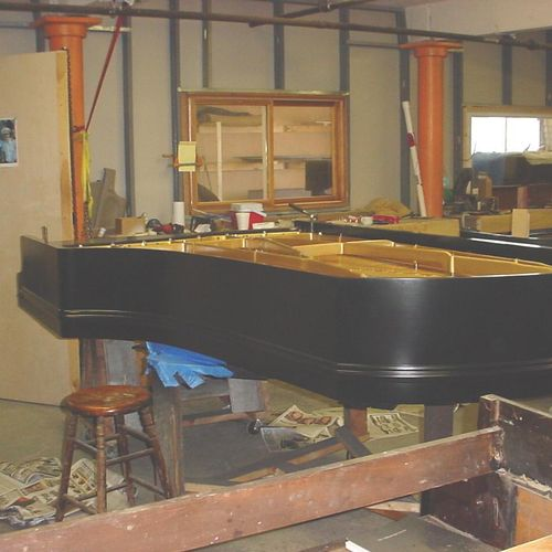 Chickering 7' grand C.1863 rebuilt at Bianchi Piano Works.