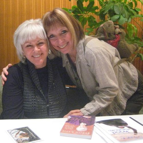 "Here with Byron Katie.  ""The Work"" is one of the tools I use in counseling."