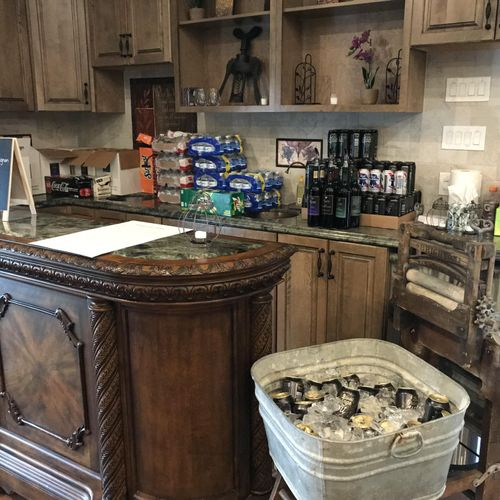 Bar setup - Wine & Beer. Wine was supplied from the winery and beer from one of the groomsman's brewing company.