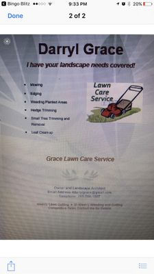 Avatar for Grace's lawn service