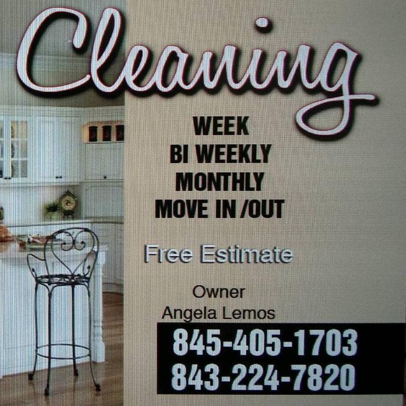 Ângela cleaning