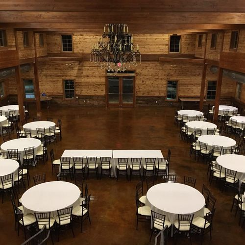 7800 sq ft event venue - clean and setup