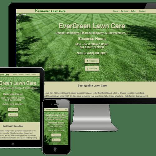 EverGreen Lawn Care - responsvie website