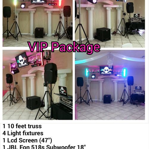 The VIP Package is our smallest most affordable package, it is designed for a smaller event up to 70 guest size reception