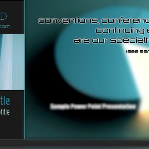 Side by side video and PowerPoint for continuing education, conventions & conferences.