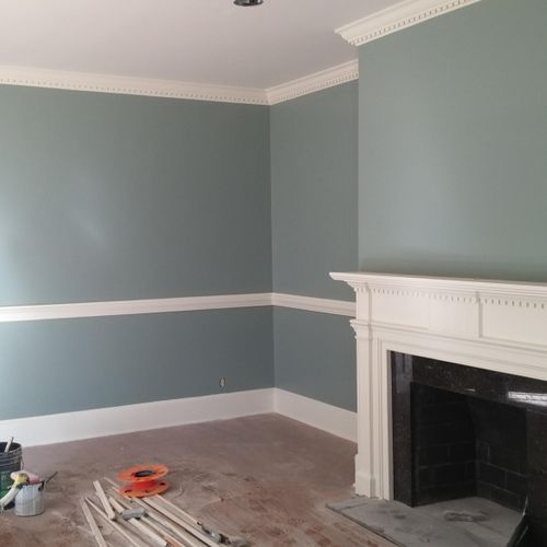 Crown molding makes every room glamorous! Let us glamorize your rooms today!