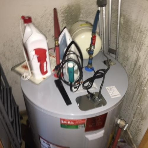 Mold Remediation Required inside Water Heater Closet
