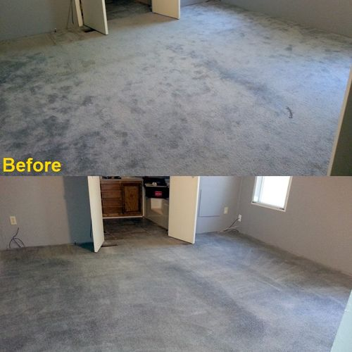 Bedroom before and after.
