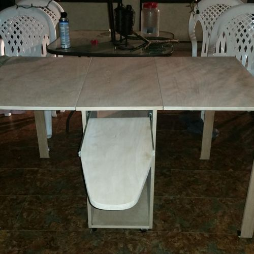 Custom Work- Sowing table with pull out ironing board.