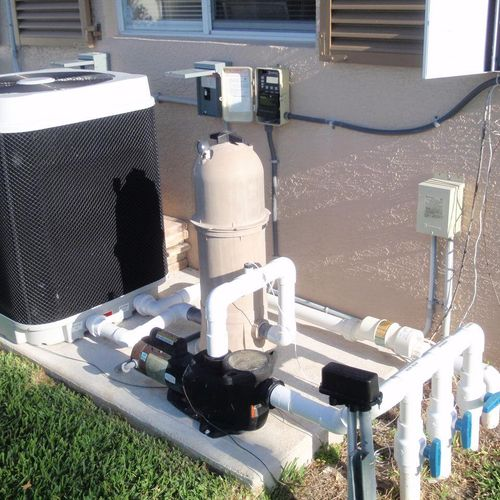 We inspect pool and equipment as part of your home inspection.