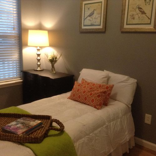 Staging project in Arverne, Queens.  Sold for cash at Open House -  Guest Bedroom