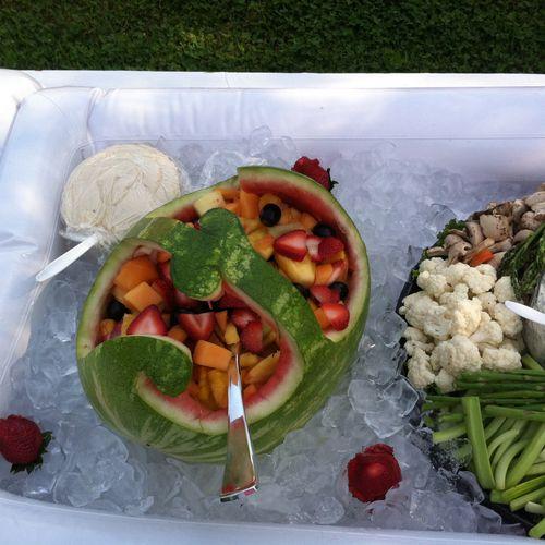 Watermelon Basket with Fresh Fruit