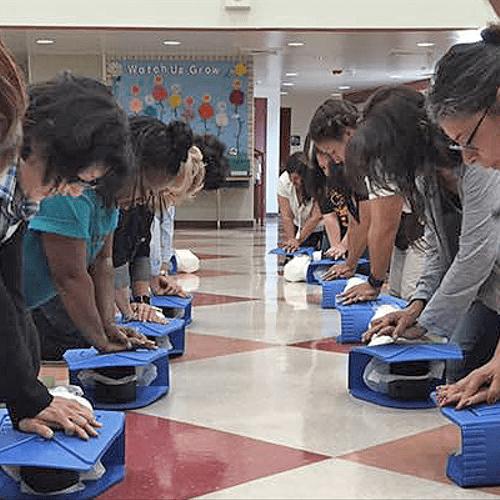 School CPR training