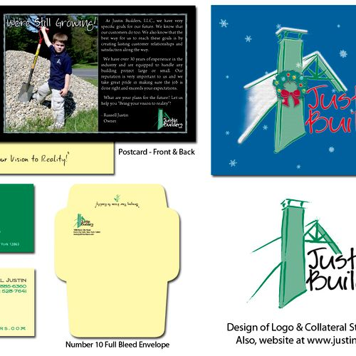 Logo design and collateral print materials.