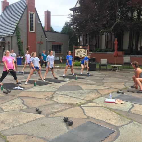 Special Outdoor Class for Fairport Cheer