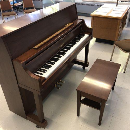 The new Kawai piano I teach on