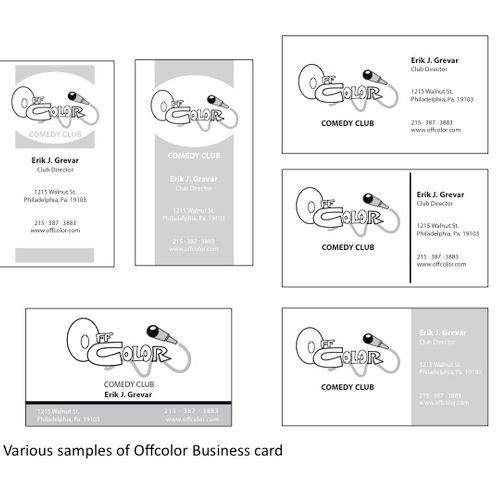 Various Business card layout