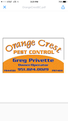 Avatar for Orange Crest Pest Control