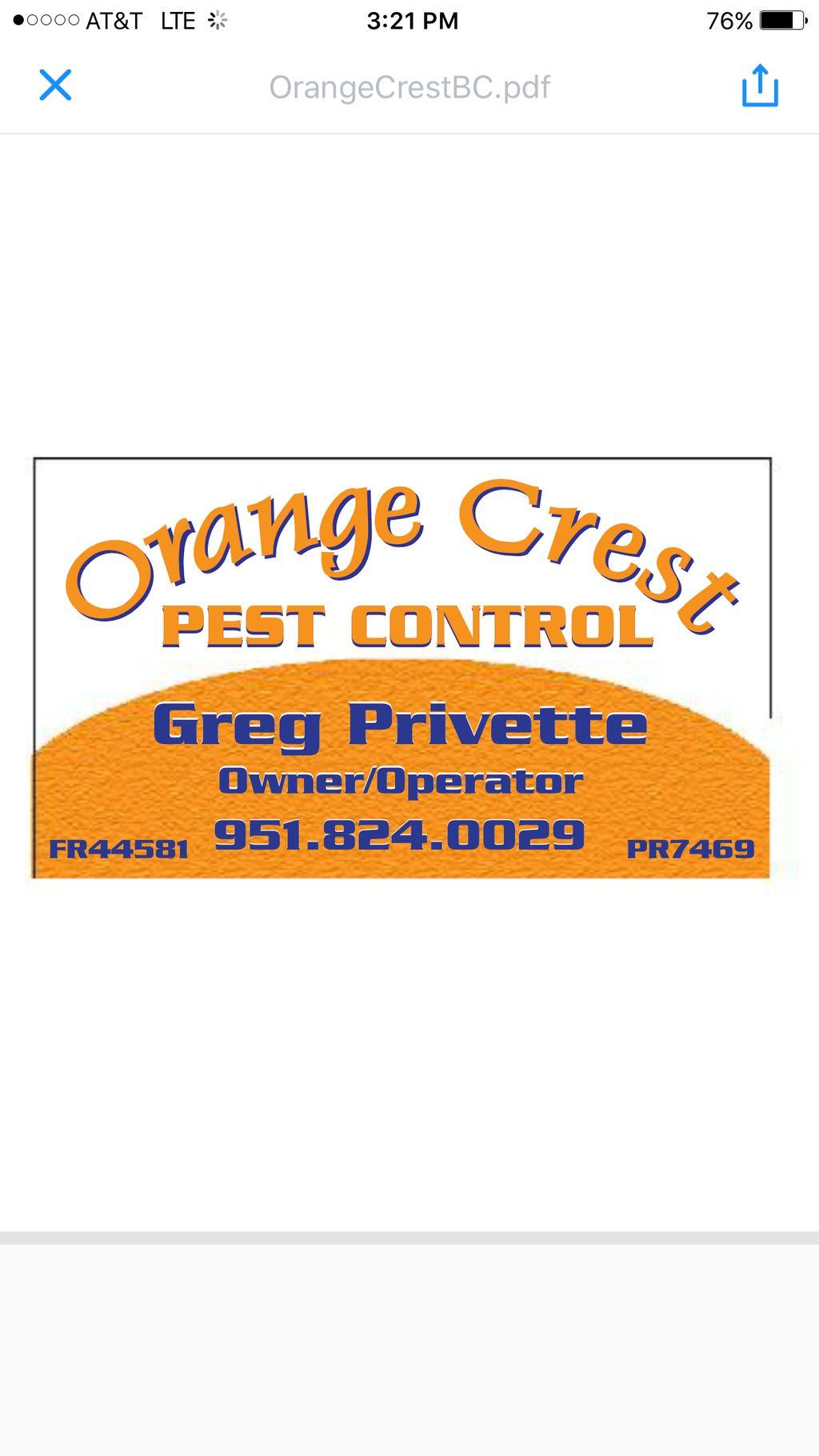 Orange Crest Pest Control