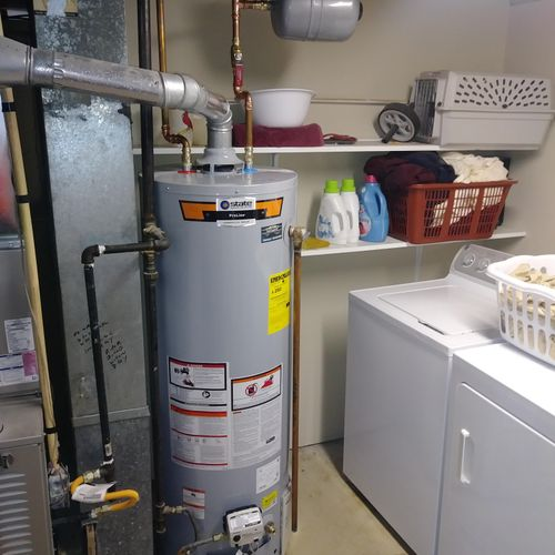 40 gal gas water heater with expansion tank