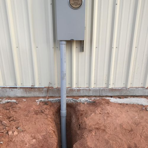 Installed new meter base
