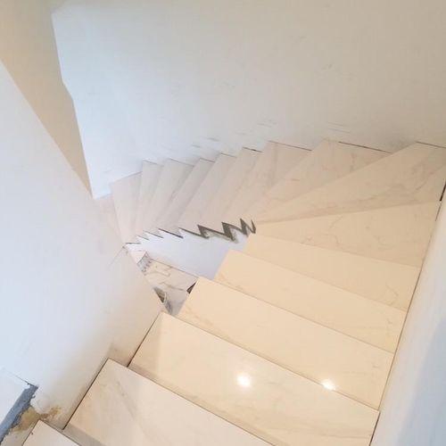 Custom marble staircase